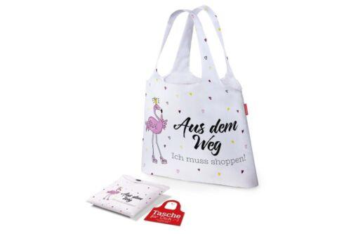 Einkaufstasche Beutel AUS DEM WEG Flamingo Happy Zoo 100 /% Polyester LaVida