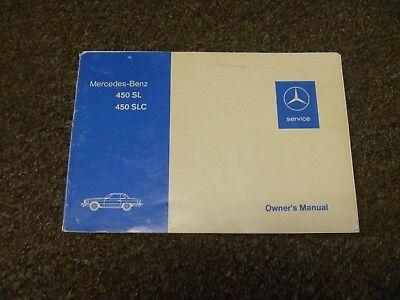 1976 Mercedes Benz 450sl 450slc 5 0 Owner Owner S Manual User Guide Original Ebay