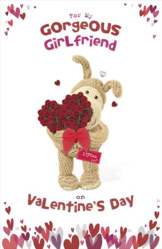 Boofle VALENTINE/'S CARTE pour mon magnifique petite amie Embelli Valentine/'s Day C