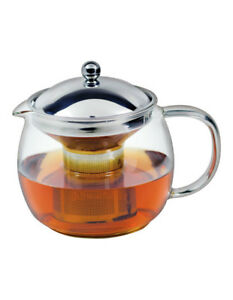 NEW Avanti Ceylon Borosillicate Glass Teapot with Stainless Steel Infuser  1.25L