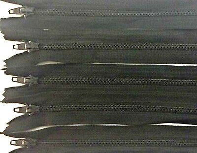 """ZIPS 16"""" 40CM CLOSED END NYLON IDEAL FOR CUSHIONS AND DRESSES X10 FREE P&P"""