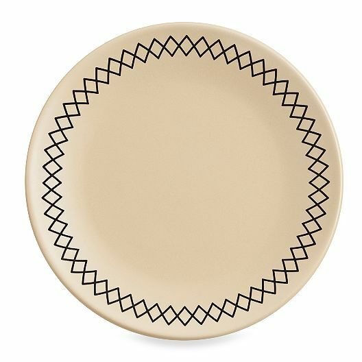 (4) K by Keaton Wheat 8 1 2-Inch Accent Salad Plates Modern Dining Luncheon
