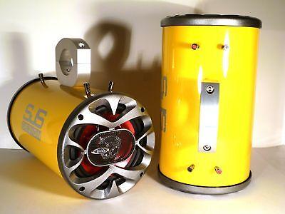 "Zubehör Sjs Kompetent 1200 Watt Boss Boot Wakeboard Tower Lautsprecher "" Metallisch Gelb """