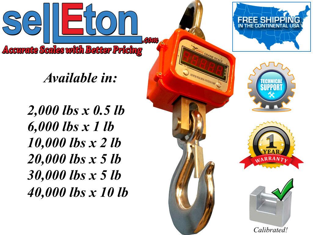 Selleton Selleton Heavy Duty Crane Scale Hanging Hoist Large Enclosure 6000 Lbs X 1 Lb