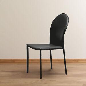 Dettagli su Sedia ecopelle moderna pvc sedie design cucina soggiorno BELLA  E ROBUSTA NERO