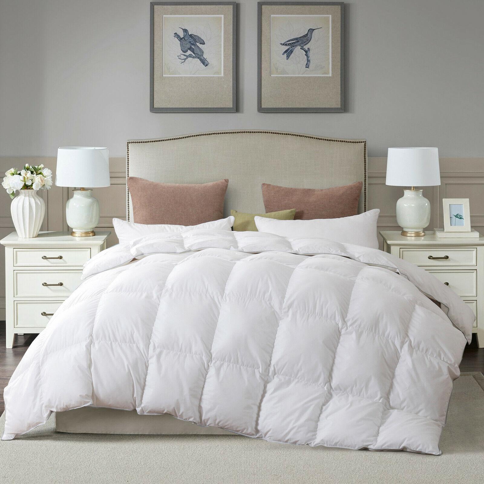 Luxury White Goose Down Comforter Duvet Insert King Size Lightweight All Season For Sale Online