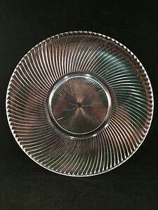 Clear-Spiral-Style-Pattern-Glass-Serving-Platter-11-1-2-034-Diameter