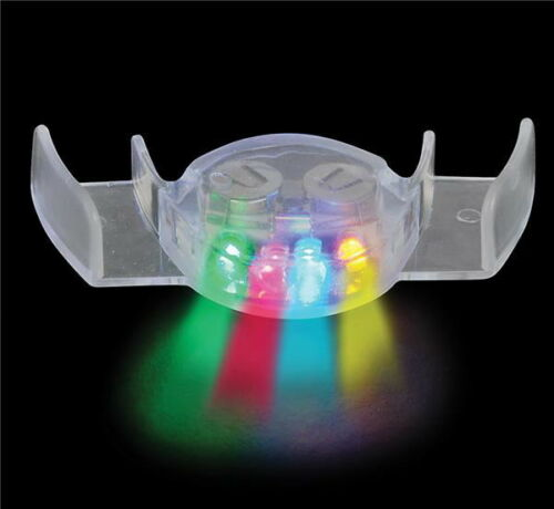 6 MULTI-COLOR LED LIGHT UP MOUTH PIECE FLASHING PARTY FAVORS SHOW GAG GIFT