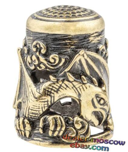 Bronze Solid Brass IronWork Thimble the Dragon/'s Lair