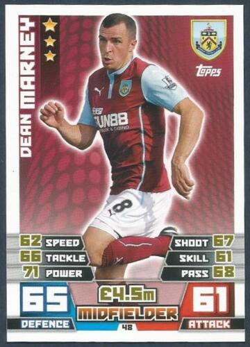 TOPPS MATCH ATTAX 2014-15 #048-BURNLEY-DEAN MARNEY