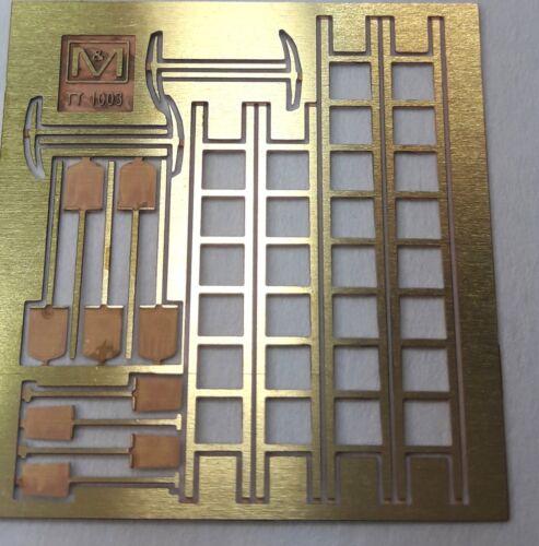 Arbeitsgeräte-Set Messingbausatz Spur TT von M/&M 594