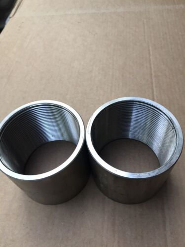 """3/"""" Stainless Steel EC USA NPT Threaded Coupling Continuous Thread 3-5//16/"""" Long"""