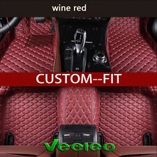 6 Colors Leather Car Floor Mats for Volvo S60 2011-2017 Waterproof Carpets Liner