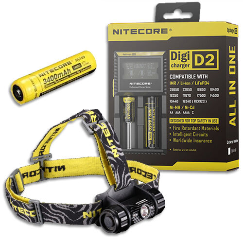 Bundle: Nitecore Headlamp HC50 2016 Model Model Model -760Lm w/NL189 Battery & D2 Charger 971a61