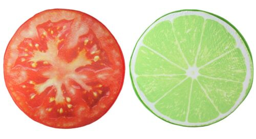 Tomato Slice Memory Foam Cushion Pillow Toy Seat Pad Home Decor 3D Lime