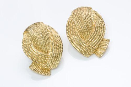 VALENTINO Garavani 1980's Gold Tone Earrings