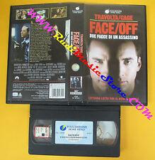 VHS film FACE OFF due facce di un assassino John Travolta Cage (F57) no dvd