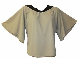 NEW-LADIES-EX-TOPSHOP-CAPE-BATWING-SLEEVE-PU-COLLAR-SWING-TOP-8-10-12-14