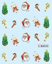 Christmas Tree Santa Bell Candy Cane Xmas Nail Art Water Transfer Decal Sticker