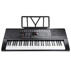 61-Key-Full-Size-Electronic-Piano-Keyboard-Electric-LCD-USB-Input-MP3-Music