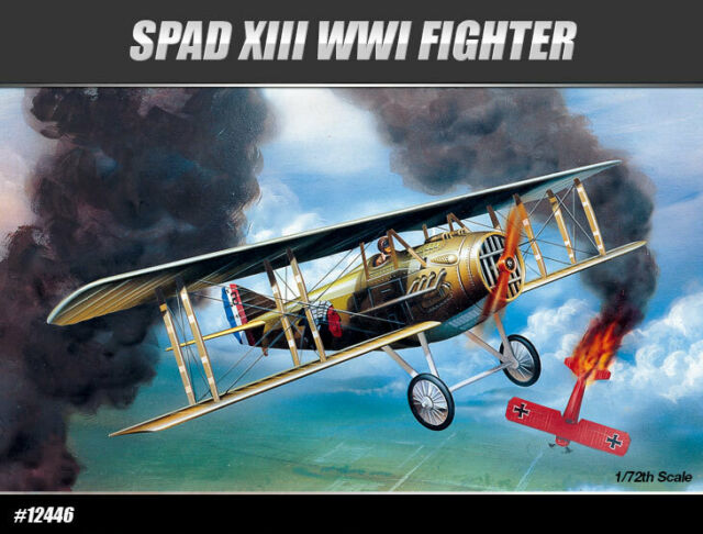 [1/72] 12446 SPAD XIII WWI FIGHTER  ACADEMY HOBBY MODEL KITS
