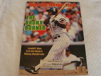 1986 Rickey Henderson New York Yankees Sports Illustrated NO LABEL July 28