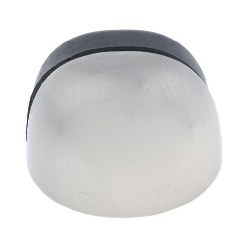 Zink Legierung /& Gummi Satin Chrome Half Moon Türstopper Glastür Stop