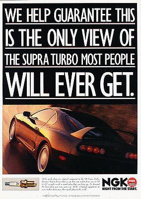 NGK Spark Plug 1996 Toyota Supra Vintage Advertisement Ad A22-B