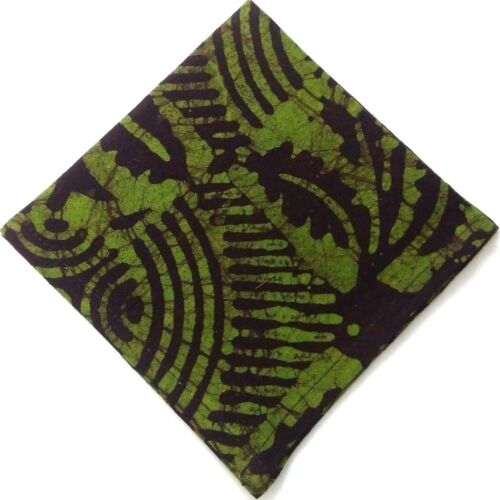 "10/"" BATIK PRINT Men Women Unisex Pocket Square Handkerchief Hanky 100/% Cotton"