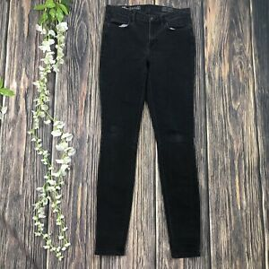 Madewell-Jeans-26x32-Skinny-Skinny-High-Riser-Black-Frost-Women-s-Casual