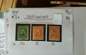 3X-NEWFOUNDLAND-1897-1898-STAMPS-USED-SEE-PHOTO