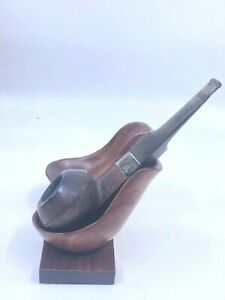 Vintage-Estate-Johns-Pipe-Shop-Sterling-London-Bulldog-Smoking-Tobacco-Pipe