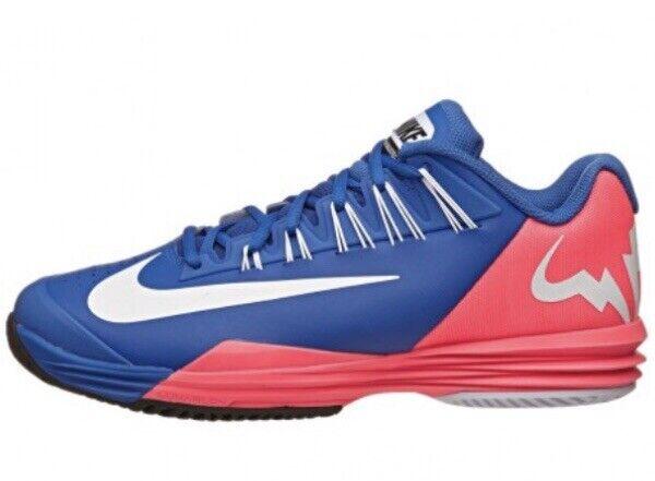 Nike Lunar Ballistec Rafa Bull Rafael Nadal Tennis Sneakers 631653 416 Royal