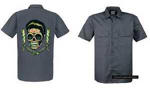 Graisseur T Gris Tattoo Travailleur RockabillyStyle Emotiv shirt OZikuXP