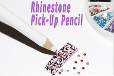 2x Nail Art Dot Pencils Rhinestones Gems Picking Tool