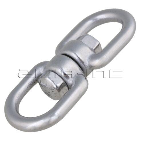 5pcs Silvery Stainless Steel 304 Swivel With Eye to Eye Rigging Pet Ring