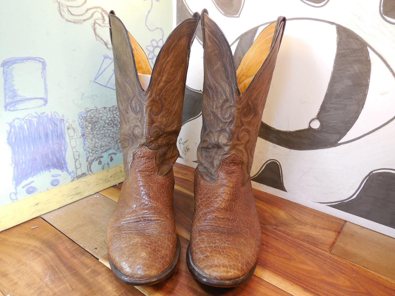 Truly Vintage Nocona Brown Leather Boots Men's 11.5D