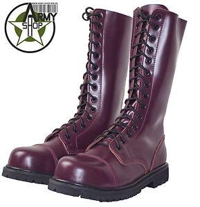 14 loch ranger boots kampfstiefel springer stiefel rangers bordeaux rot weinrot. Black Bedroom Furniture Sets. Home Design Ideas