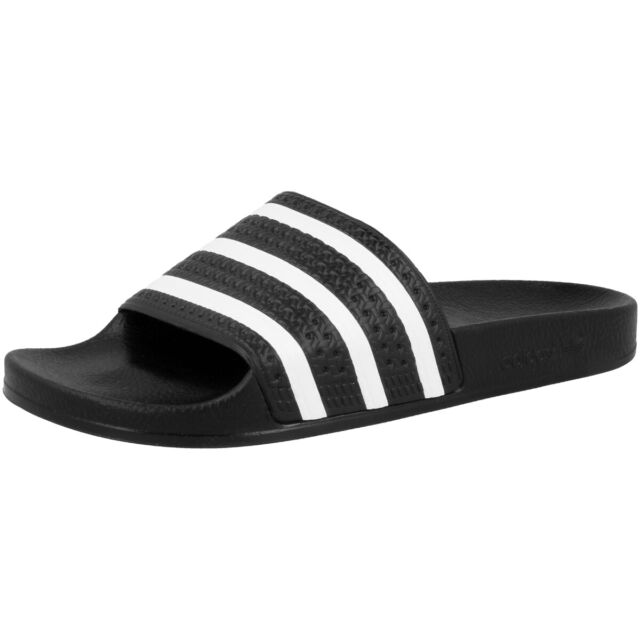 7a7640a36d04e7 Adidas Adilette Badelatschen schwarz weiß 280647 Badeschuhe Sandale Schuhe