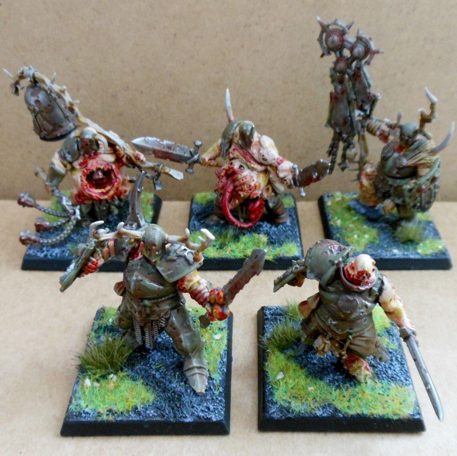 2013 caos Nurgle Putrid Blightkings ciudadela Pro pintado warhammer blightlord GW
