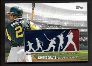 info for 7ec01 05c4e Details about 2018 Topps KHRIS DAVIS MLB Players Weekend Commemorative  Patch Oakland Athletics