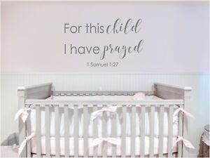 Image Is Loading For This Child I Have Prayed Vinyl Decal