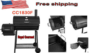 "Royal Gourmet 30"" BBQ Charcoal Grill Offset Smoker CC1830F"