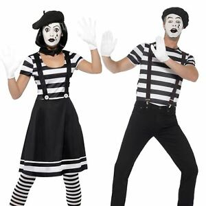 adults french mime artist street performer circus carnival fancy