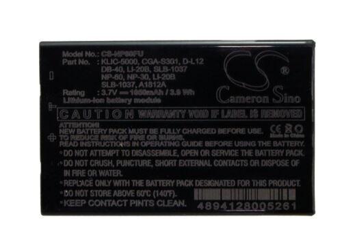 Batería del Reino Unido para PENTAX Optio 330 Optio 330RS D-LI2 3.7V RoHS