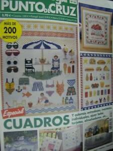 Labores-Del-Hogar-Cross-Stitch-Magazine-56-Beach-Fruit-Kitchen-Flowers-Toys