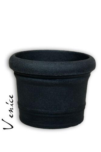 Pflanzkübel zylindrich schwarz  Kunststoff 60cm frost+bruchsicher