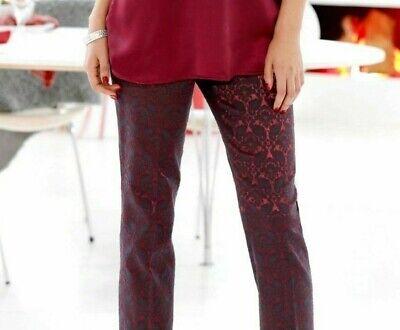 Bulk Buy 8 X Womens Trousers Elasticated Waist Black Or Burgundy 14 - 20 Tecniche Moderne