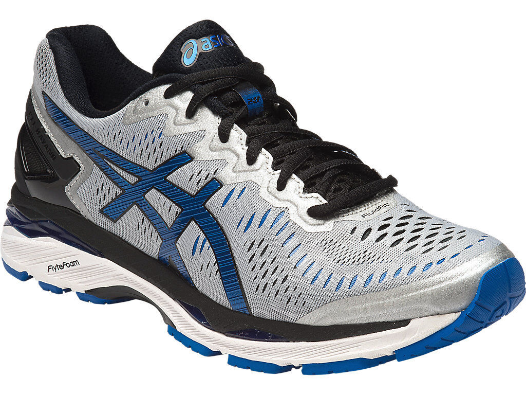 Asics Gel Kayano 23 Mens Neutral Running Shoe (2E) (9345 Silver/Imperial/Black)