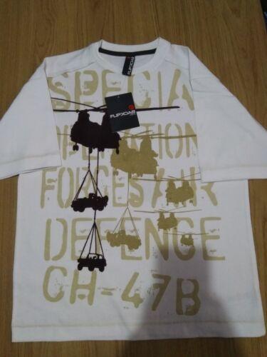 Boys Flipback Army Graphic T Shirt Age 11-12